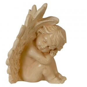 Figurka - siedzący śpiący aniołek