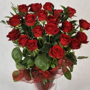 Bukiet z 20 bordowych róż