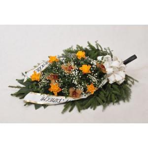 Wiązanka pogrzebowa z róż herbacianych