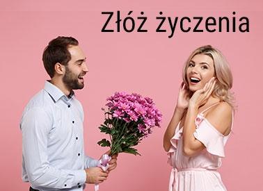 Złóż życzenia z kwiatami